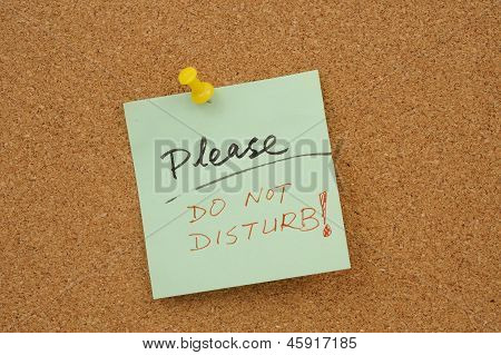 Please Do Not Disturb!