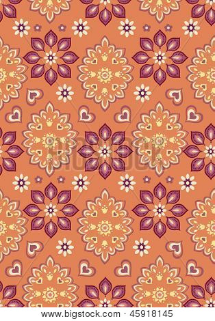 orange bandana seamless vector background