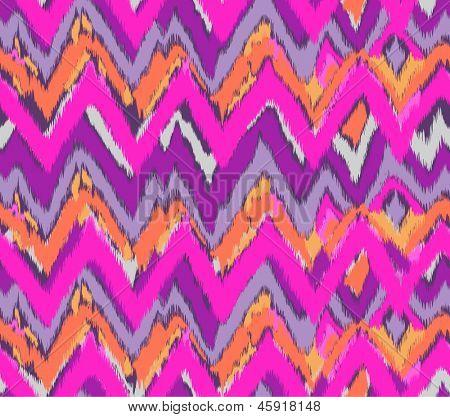 cute pink ikat seamless background