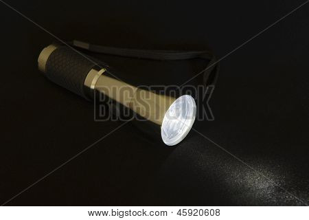 Headlight on a black background