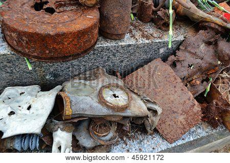 Big Pile Of Rusty Bullets, Shells.