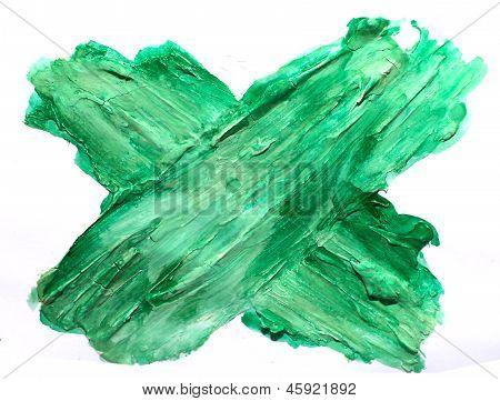 art daub watercolor green cross background abstract paper textur
