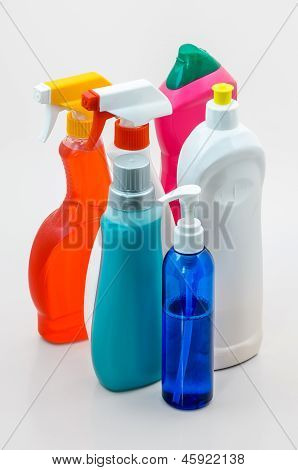 Household Cleaning Bottles 03