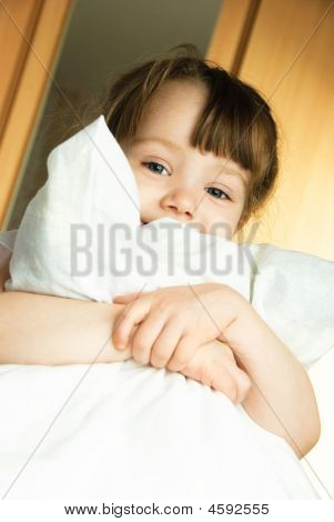 Little Girl With A Pillow