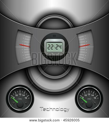 Abstract background, technology design - vector illustration.
