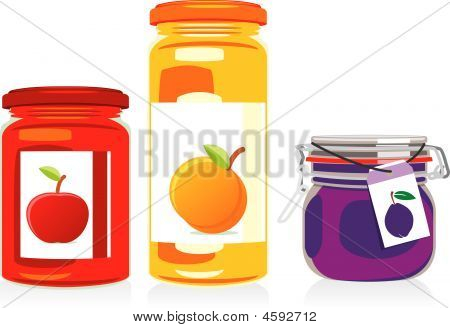 Jisolated Jam Jars