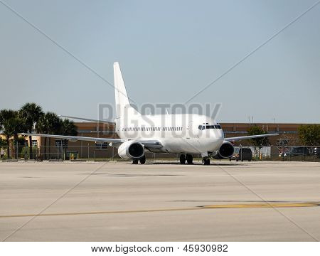 Umarked Passenger Jet Airplane