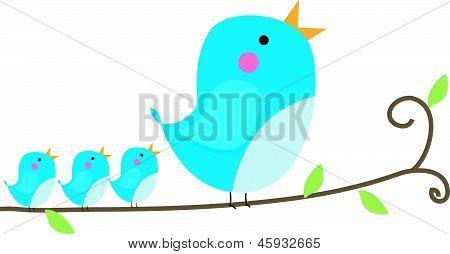 Illustration of a blue bird