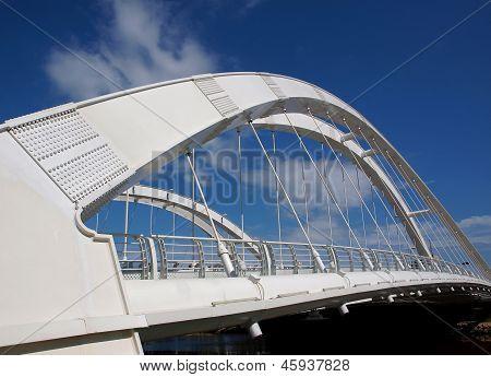 Modern Pedestrian Bridge With Double Arches