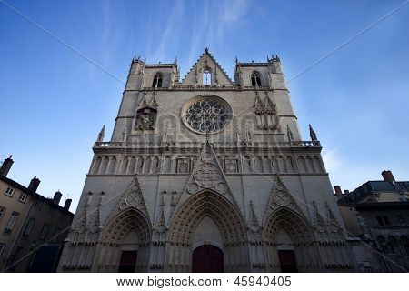 Saint Jean cathedral in Lyon city France.