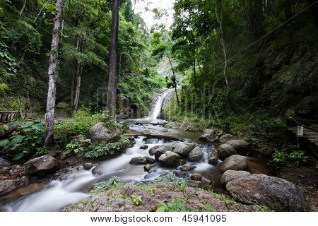 Waterfall National park Lampang district