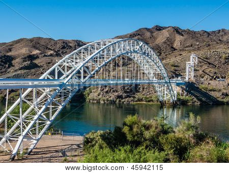 Route 66: Old Trails Arch Bridge, Colorado River, Topock, AZ