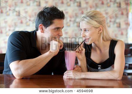 Drinking Milkshake