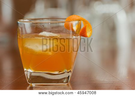 Orange Liquor On The Rocks