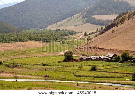Stone Garden In Barguzin Valley Near Baikal Lake