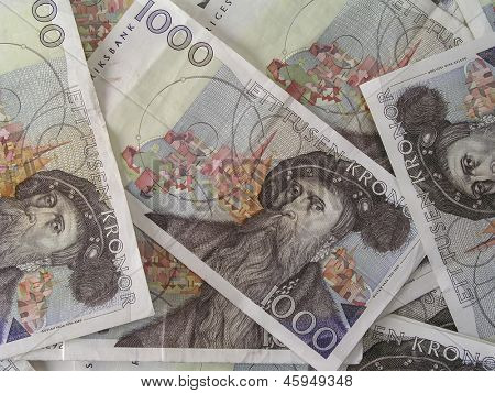 Background of swedish currency - 1000 Kronor