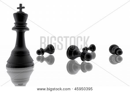 Chess King Victory Over The Pawns