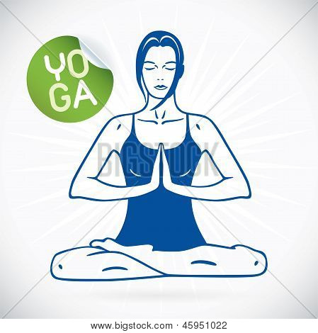 Yoga Model Illustration