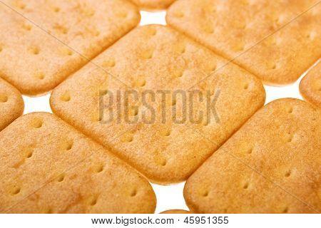 Cracker Isolated On White Background