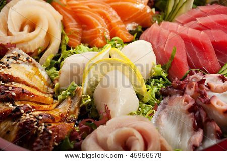 Japanese Cuisine - Sashimi Plate