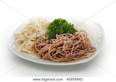 Buckwheat Spaghetti, Crystal Noodles and Udon