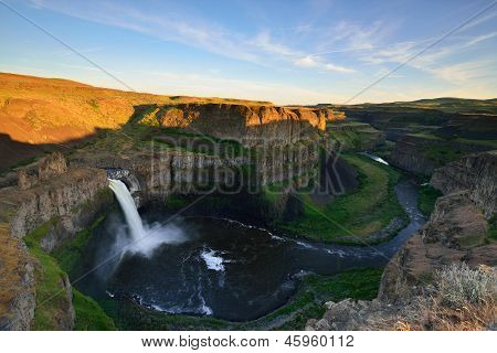 Palouse Falls At Sunset