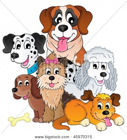 Imagem com tópico cão 8 - ilustração do vetor de eps10.