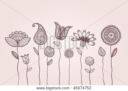 Dotted Doodle Flowers