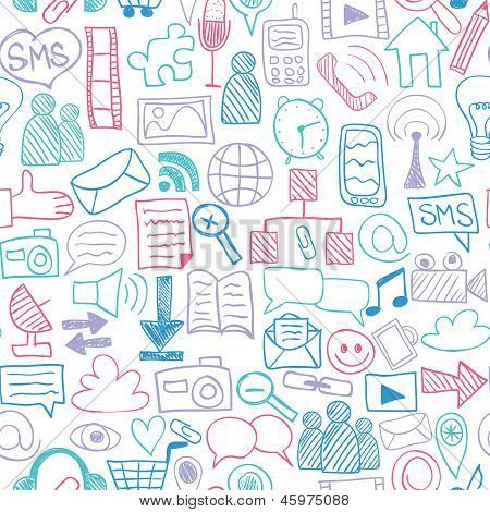 Social Media Seamless Pattern