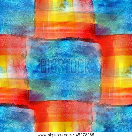 art blue, red, yellow avant-garde background hand paint seamless