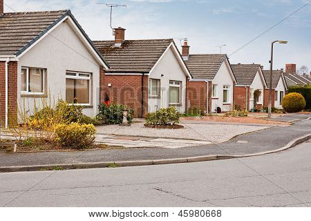 Suburban Bungalows On Housing Estate