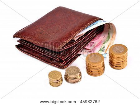 money and wallet isolated