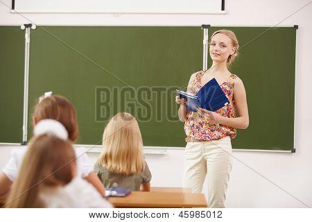 Teacher at school