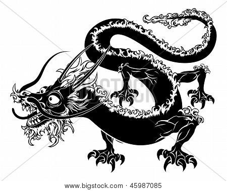 Stylised Dragon Illustration