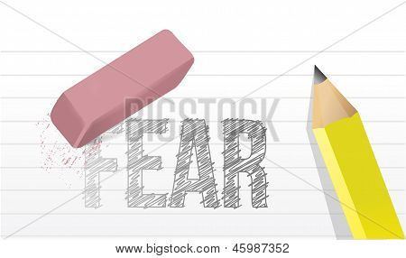 Erase Fears Concept Illustration Design