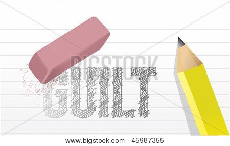 Erase Guilt Concept Illustration Design