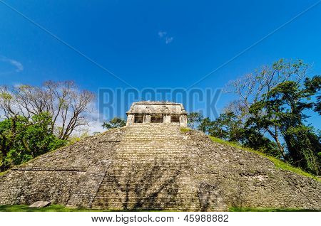 Front View Of Mayan Temple