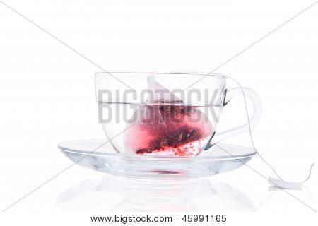 Tea Dissolving In Hot Water.