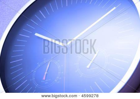 Blue Tint Multifunctional Clock