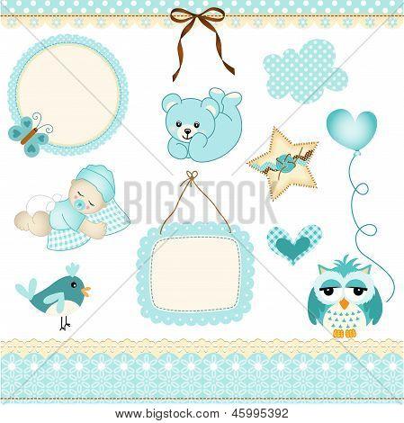 Baby boy design elements