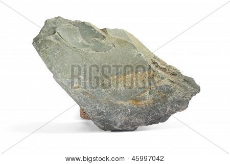 stone gray single granite boulder large river isolated big rock