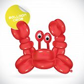 Balloon Crab Illustration