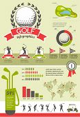 stock photo of golf bag  - Golf vector infographics - JPG