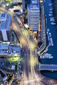stock photo of minato  - Roads in Tokyo viewed from above the Minato Ward area - JPG