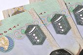 picture of dirhams  - Close up AED 1000 bills - JPG
