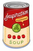 foto of condensation  - Can of condensed tomato soup Inspiration isolated on white background.