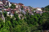 picture of overpopulation  - View of Veliko Tarnovo in Bulgaria in the spring - JPG