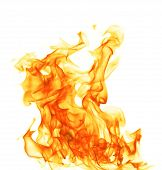 stock photo of fiery  - Photo of Fire isolated on white background - JPG