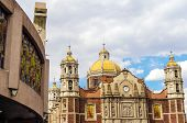 pic of guadalupe  - View of both the old and the new Basilica of Our Lady of Guadalupe - JPG