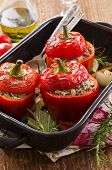pic of hari  - stuffed peppers - JPG